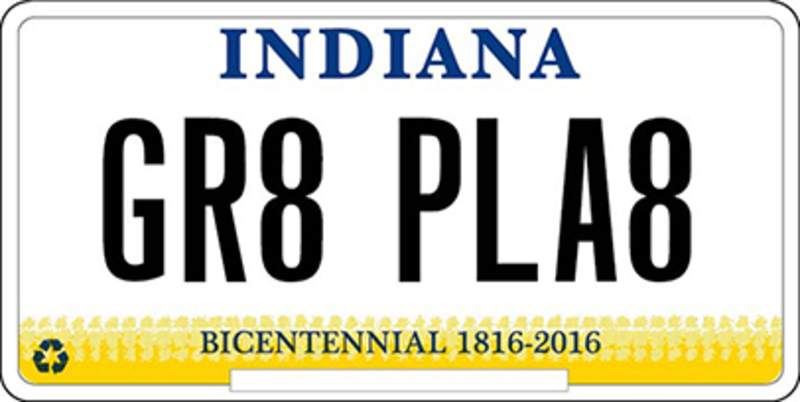 State bmv brings back vanity plate indiana the journal for Indiana bureau of motor vehicles phone number