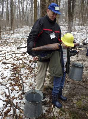 Associated Press Visitors To Sugar Camp Days Watch A Demonstration Of How American Indians Turned Maple Sap Into As Seen Last Year At Bendix Woods