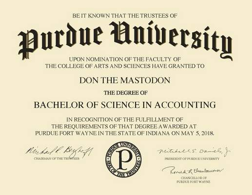 purdue trustees ok pfw diploma design schools the journal gazette