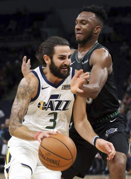 60b03fcd6e43 Rose scores career-high 50 as Timberwolves top Jazz