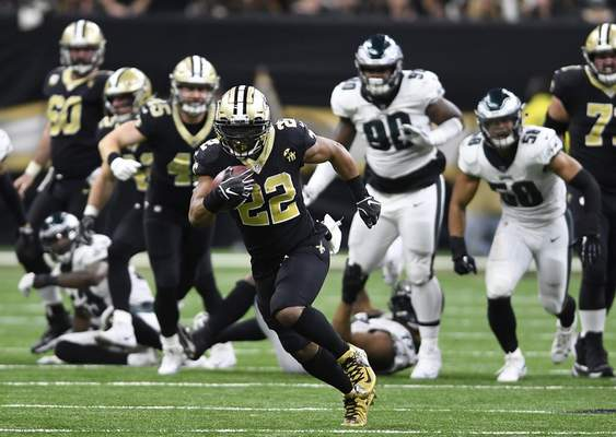 Saints  running back living in the now  f391049e0
