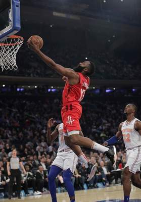 Harden scores career-best 61, Rockets edge Knicks | NBA | The