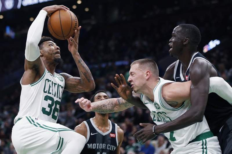 dbe240af3 Celtics rally in 2nd half to end Pistons  win streak 118-110