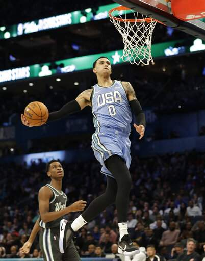 The Latest  US tops World in Rising Stars game 2e3489d71