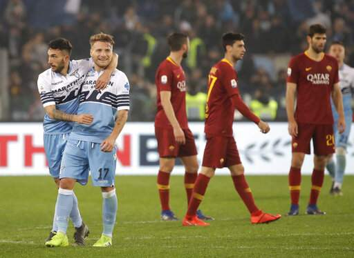 Lazio beats Roma 3-0 to boost Champions League chances  482b3fd760a55