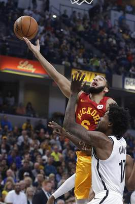 0ea240b6f788 Nets end playoff drought with 108-96 win over Pacers