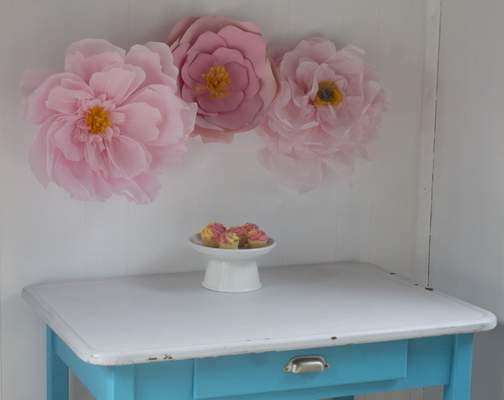Add Big Paper Flowers To Party Decor Living The Journal Gazette