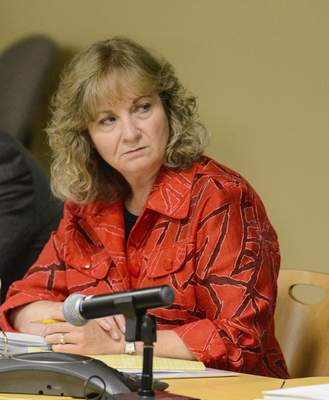 Michelle Davies | The Journal GazetteSuperintendent of Public Instruction Glenda Ritz voted against a teacher's permit at the education board meeting.