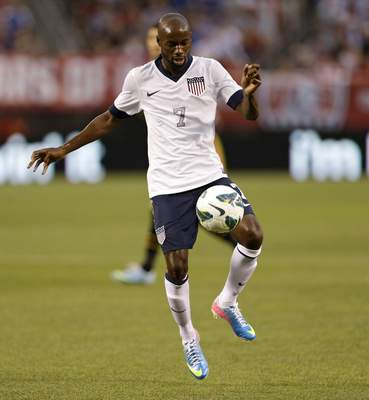 In a May 29, 2013, file photo United States' DaMarcus Beasley moves the ball