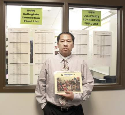 Rachel Von | The Journal Gazette Kyaw Soe, assistant teacher for the English Language Learner program at North Side High School, was gratified to learn 10 of his students were receiving college credit for work they were doing in high school.