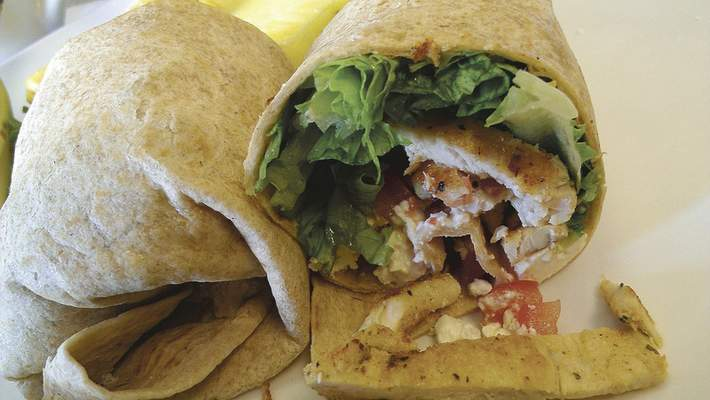 The Olympic Wrap with grilled chicken at Spyro's on Bluffton Road.
