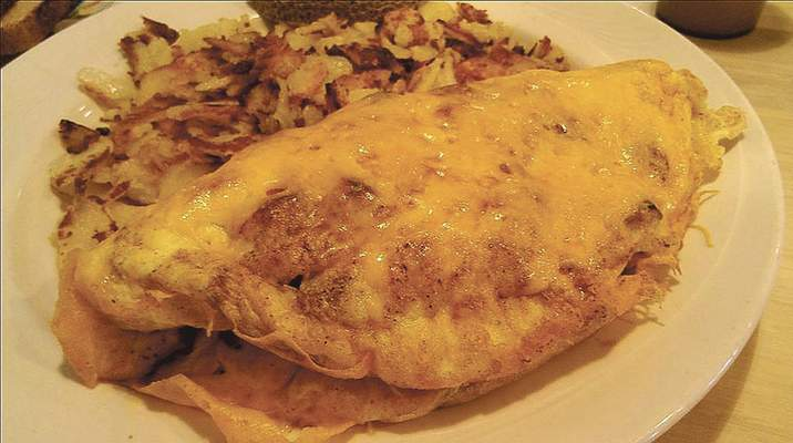 The Employees' Favorite omelet at Spyro's on Bluffton Road.