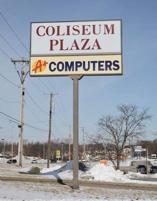 Michelle Davies   The Journal Gazette Coliseum Plaza on Parnell Avenue has filed for bankruptcy.