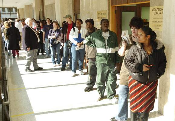 Voters spent as long as two hours in line at the City-County Buildng on Election Day in November 2008. Greater electoral oversight is among the legacies of the civil rights movement.