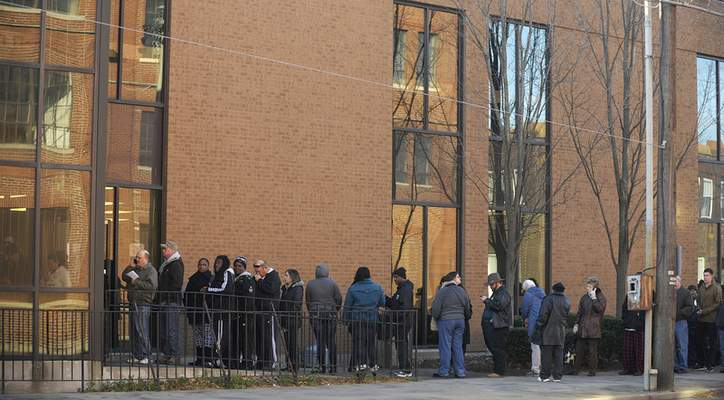 File Photo Early voting lines stretched out of the door at the Allen County Election Board at 1 West Superior Street in this Nov. 5, 2012 photo.