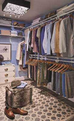 Courtesy Think about upgrading your closet with more effective shelf space, accessories and lighting.