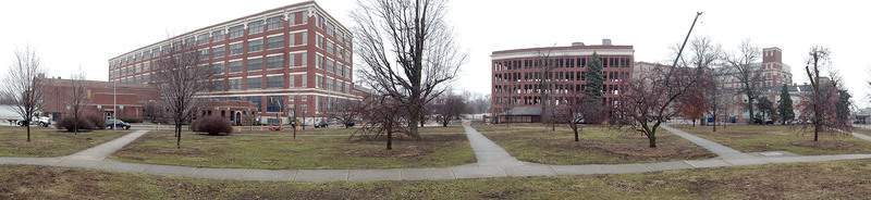Photos by Samuel Hoffman | The Journal Gazette With the last of its workers gone, the 100-plus-year-old General Electric complex south of downtown is losing one of its 13 buildings to demolition.