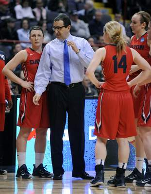 Associated Press Dayton coach Jim Jabir takes his No. 7-seeded Flyers into tonight's Albany Regional final against two-time defending national champion and top-ranked UConn.