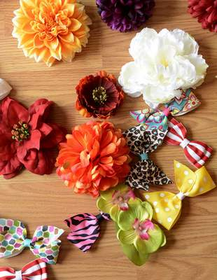 Samuel Hoffman | The Journal Gazette Hispanic Chamber of Commerce: Jessica Montalvo owns Flairware Boutique and creates flowers, bows and clothing.