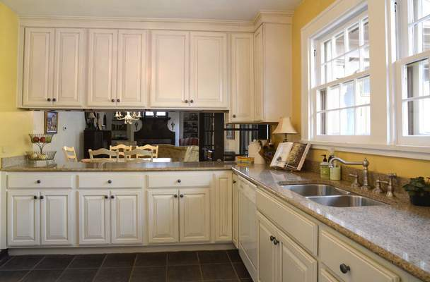 The Hirschy's updated their farm-house style kitchen but tried to keep it original.