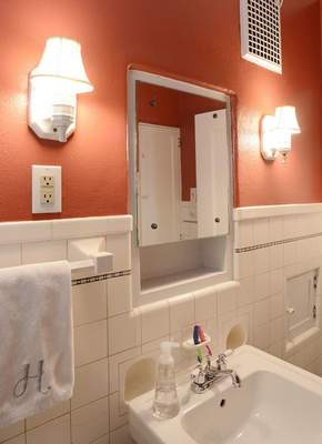 Samuel Hoffman | The Journal Gazette Who Lives There: downstairs bathroom at the home of Quinn and Jody Hirschy.