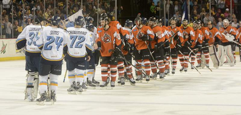 Samuel Hoffman | The Journal Gazette The Komets believe their season was a success, even after they lost to Toledo in Game 7 of the ECHL Eastern Conference semifinals.