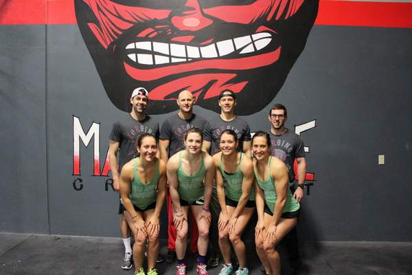 The Mad Apple CrossFit team, clockwise from upper left, Shawn Sullivan, Bobby Petras, Harrison Heller, Ryan Person, Shelley Toth, Leslie Heller, Mallory Shinneman and Vicki Toth.
