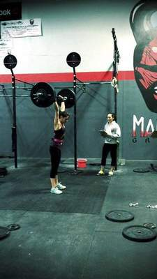 Leslie Heller is part of the Mad Apple CrossFit team that has qualified for the CrossFit Games Regional competition in Minneapolis. Courtesy photo