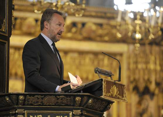 Associated Press – The Muslim Bosniak member of Bosnia's tripartite presidency Bakir Izetbegovic speaks during a memorial service at Westminster Abbey, London, to mark the upcoming 20th anniversary of the Srebrenica massacre Monday July 6, 2015.
