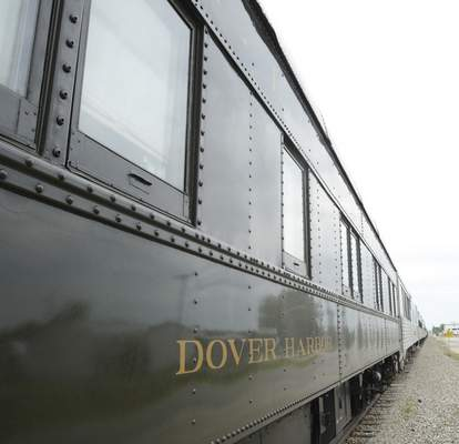 Cathie Rowand | The Journal Gazette This restored Dover Harbor Pullman train car from the 1930s will be pulled by the Fort Wayne Railroad Historical Society's No. 765 steam locomotive as part of round-trip excursions Saturday and Sunday to Lafayette.