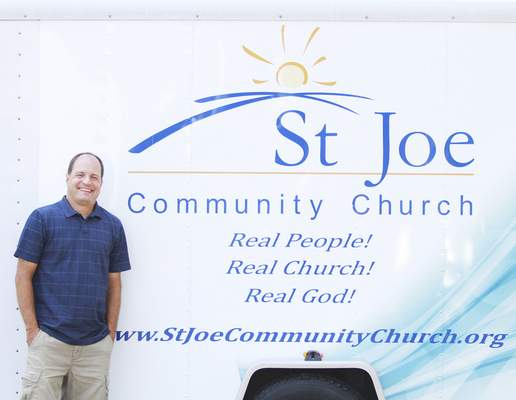 Byman Rachel Von   The Journal Gazette Portrait of pastor Greg Byman at St. Joe Community Church, 2900 N. Anthony Blvd. Fort Wayne, IN on Saturday. St. Joe Community Church will have its first service Sunday evening in the former Memorial Baptist Church after meeting in schools and a movie theater for more than a decade.