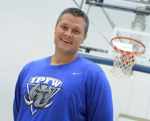 Samuel Hoffman | The Journal Gazette IPFW assistant basketball coach Mark Downey was in New Orleans as Hurricane Katrina approached.