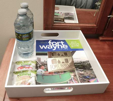 The Chwaleks enjoy helping travelers. At their home, guests find a tray of snacks and area brochures.