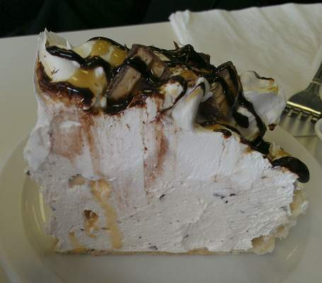 Snickers pie at Chrome Plated Diner on Anthony Boulevard.