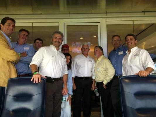 Gov. Mike Pence entertained a delegation at a private suite at Yankee Stadium last month. The Indiana Economic Development Corp. Foundation, supported by donations from utility companies and others, paid the $24,000 tab.