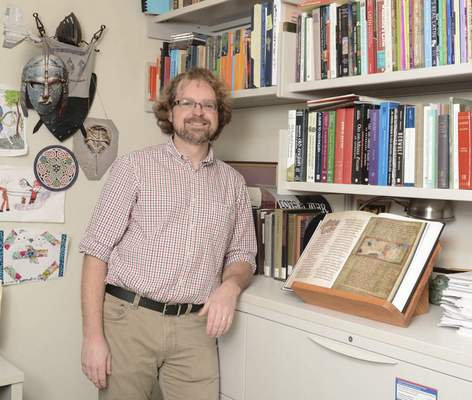 Michelle Davies | The Journal Gazette Damian Fleming, professor of medieval studies, linguistics and Latin at IPFW, will give a presentation Oct. 28 about his summer research for the Anthropology Club Luncheon Lecture series.