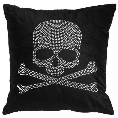 Pier 1 Black-and-silver Beaded Skull Glam Pillow from Pier 1 Imports