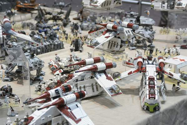 Star Wars was a popular subject for Lego displays at the Brickworld event. The expo is organized and run by a Homestead High School graduate.