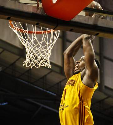 Chad Ryan   The Journal Gazette C.J. Fair dunks at Memorial Coliseum during the playoffs last season. In his second season, he is a centerpiece of the Mad Ants, who open the season Saturday at the Coliseum against the expansion Raptors 905.