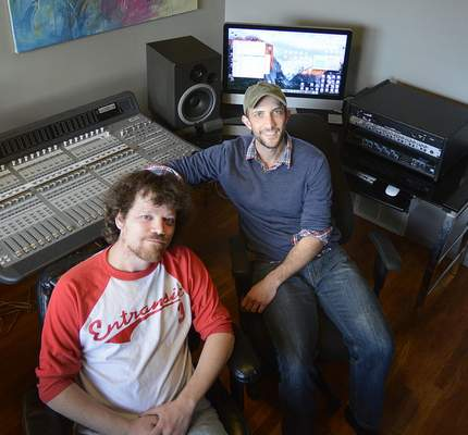 Samuel Hoffman   The Journal Gazette Matt McCrory, right, and Troy Koch – along with Kiowa Ackley, not pictured – have made RezFx Productions a success.