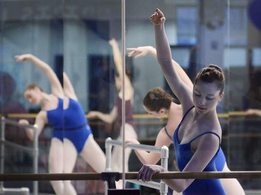 Samuel Hoffman | The Journal Gazette A Fort Wayne ballet class practices at the Auer Center downtown. The city's vibrant arts community positions it well to attract those who create jobs, as well as those who fill them.