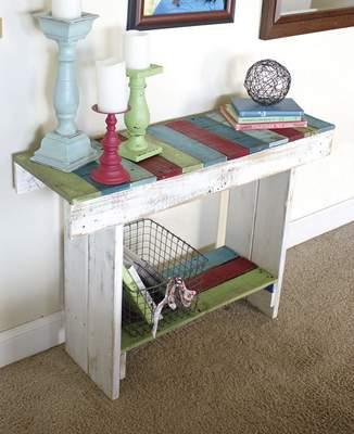 Furniture ideas can include a table at an entrance.