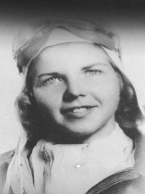 A 1944 photo of Marty Wyall when she was a member of the Women Airforce Service Pilots.