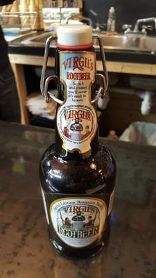 Virgil's Bavarian Nutmeg Root Beer is the most expensive bottle of soda Antiqology in Huntington offers at $5. It is a seasonal variety that is hard to keep in stock, but its unique flavor makes it worth trying.