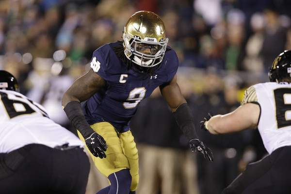 Associated Press Jaylon Smith is expected to be the second linebacker taken in the NFL draft even after his serious knee injury.