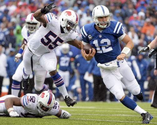 File: Indianapolis Colts quarterback Andrew Luck