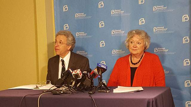Ken Falk, of ACLU of Indiana, and Betty Cockrum, of Planned Parenthood of Indiana and Kentucky. Photo by Niki Kelly | The Journal Gazette