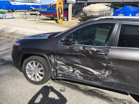 Courtesy The driver's-side door of Rep. Dave Ober's vehicle was damaged in a March crash.