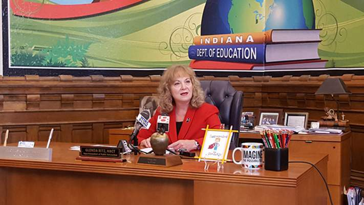 Niki Kelly | The Journal Gazette Democratic Superintendent of Public Instruction Glenda Ritz outlined her 2016 education policy priorities.