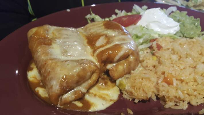 Chimichangas from Agaves Mexican Grill at Chapel Ridge.